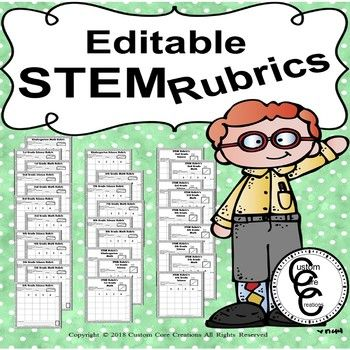 Editable STEM Blank Rubric Templates Custom Core Creations