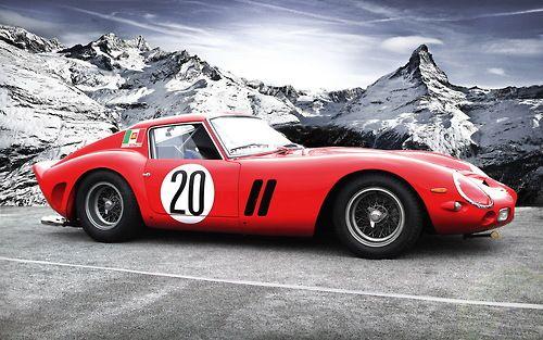 Ferrari 250 GTO In the alps.. stunning in every way.