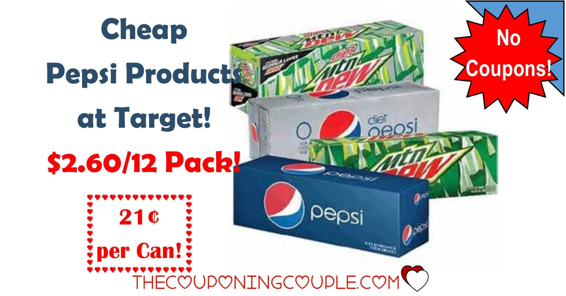 Cheap Pepsi Products At Target 2 60 12 Pack 0 21 Per Can Pepsi Canning Cheap
