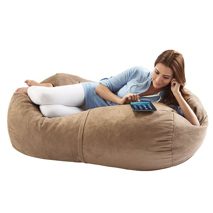 Super Jaxx Sofa Saxx 4Ft Foam Bean Bag Lounger Brookstone Dailytribune Chair Design For Home Dailytribuneorg