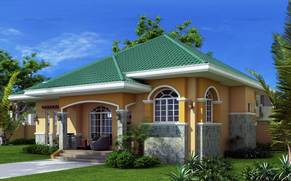 Elevated Bungalow house plan is Marcela model