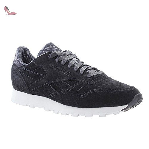 Reebok Classic Leather CL TDC Hommes Baskets Noir AR1433, Taille:41 -  Chaussures reebok