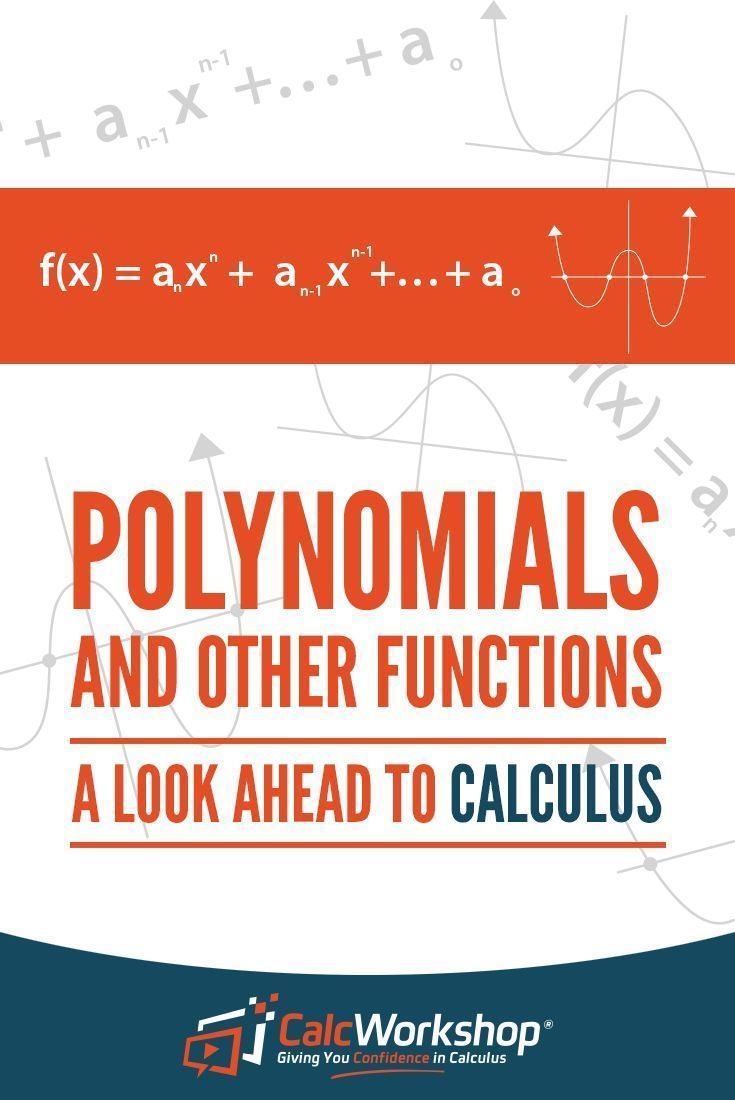 Polynomial functions a look ahead to calculus calculus