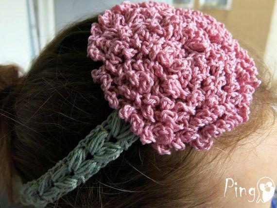 Crochet Headband PATTERN: Ruffle Flower Headband, Crochet Baby Headband, Toddler Headband, Sizes - baby to adult, PDF File, Instant Download