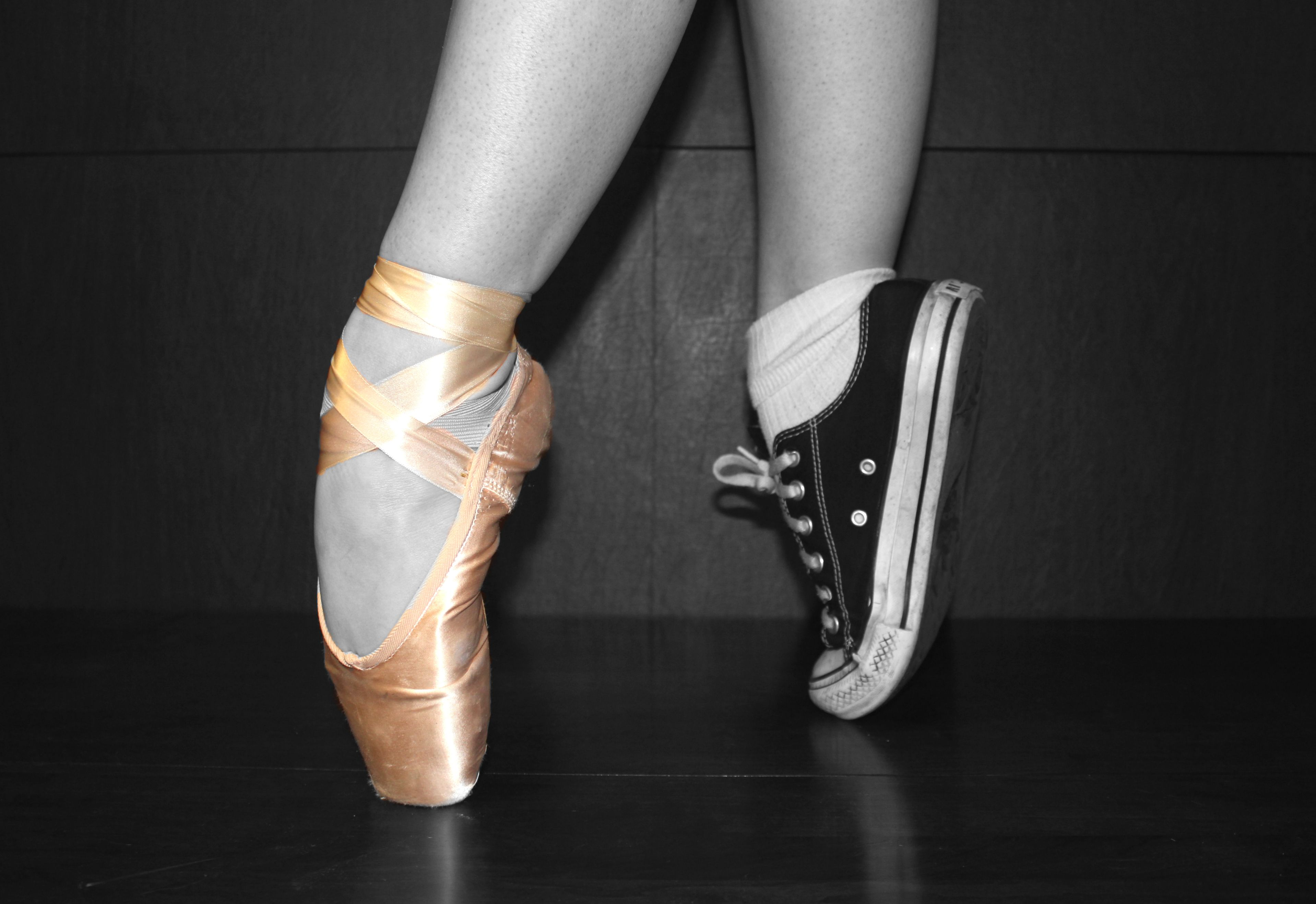 aab1e1032297 pointe shoes vs converse...totally pointe shoes!