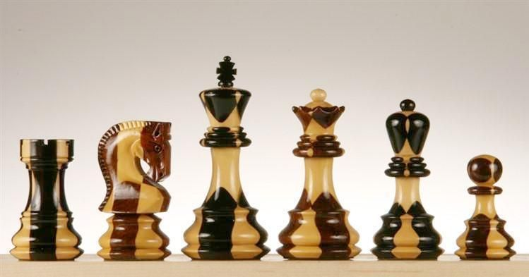 Zagreb 4 Inlaid Wood Chess Pieces Wood Chess Chess Pieces Chess