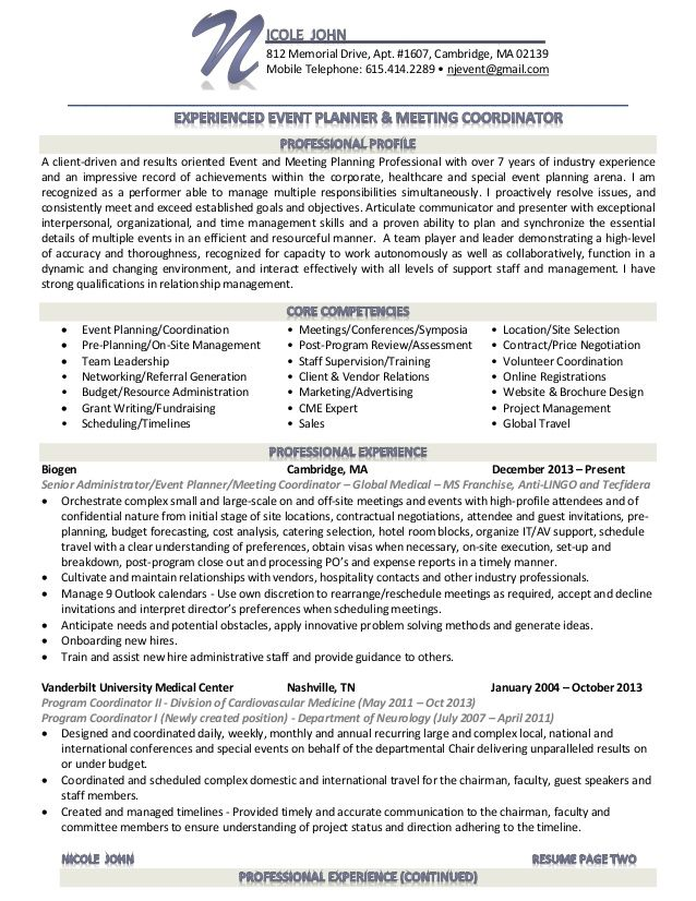 event planner resume - Google Search Sample Resume Templates - event planner resume template