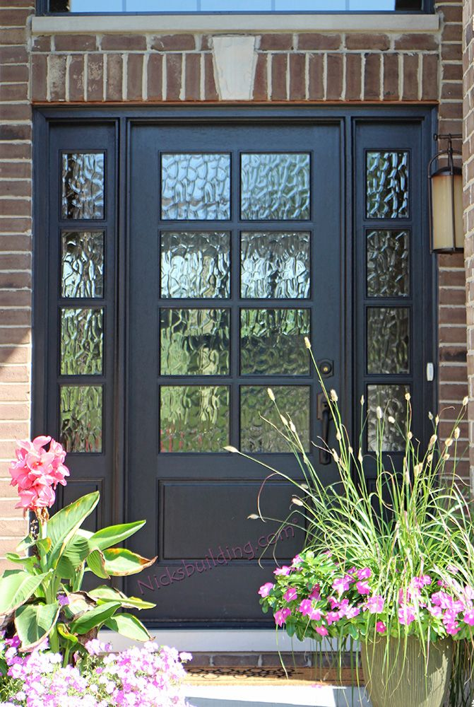 8 Lite Front Door With Flemish Glass Exterior Doors With Glass