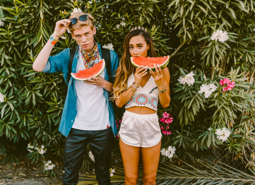 http://chicerman.com  billy-george:  Watermelon  Spotted at Coachella  Photo by Dreily S.  #streetstyleformen