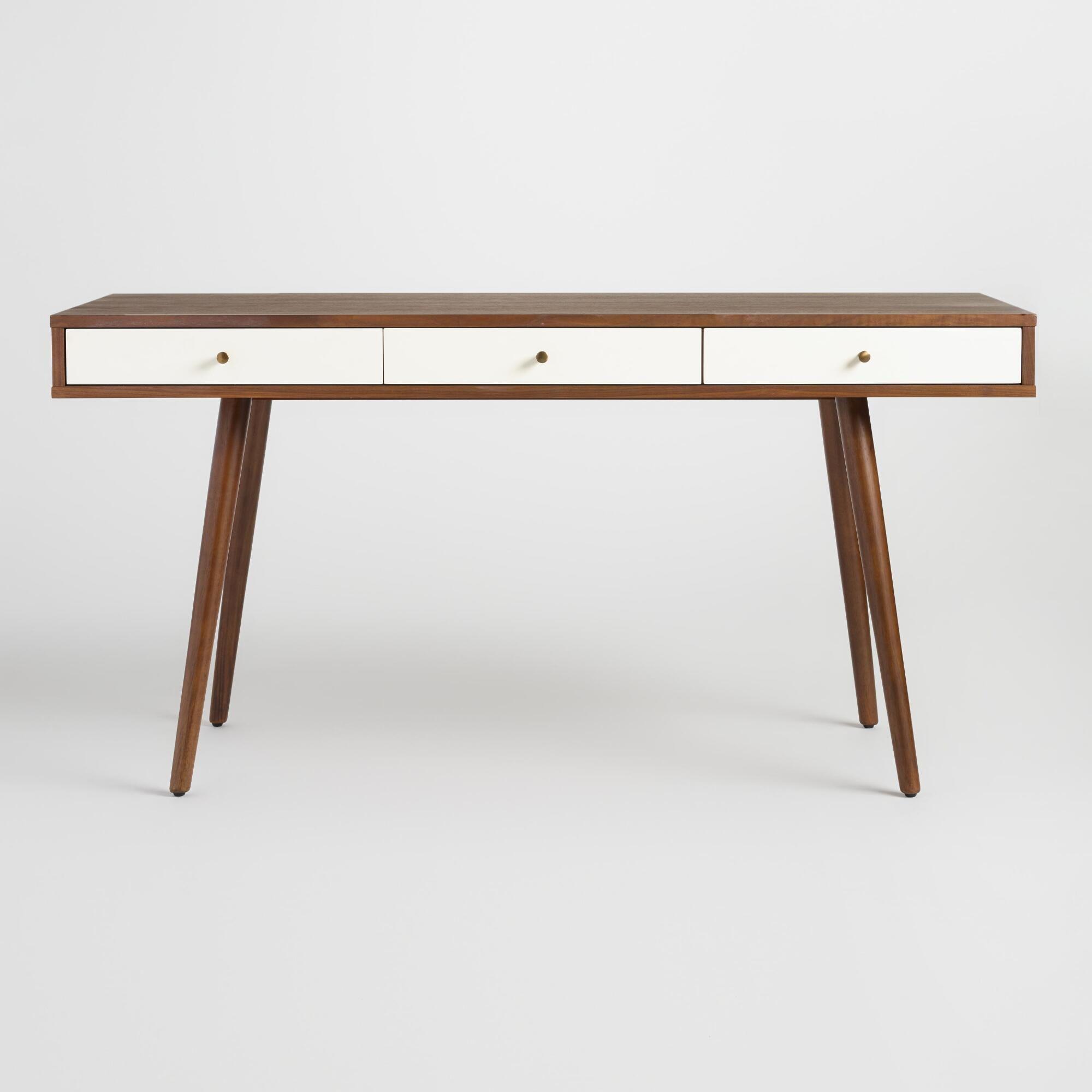 Wood Zarek Mid Century Style Desk World Market