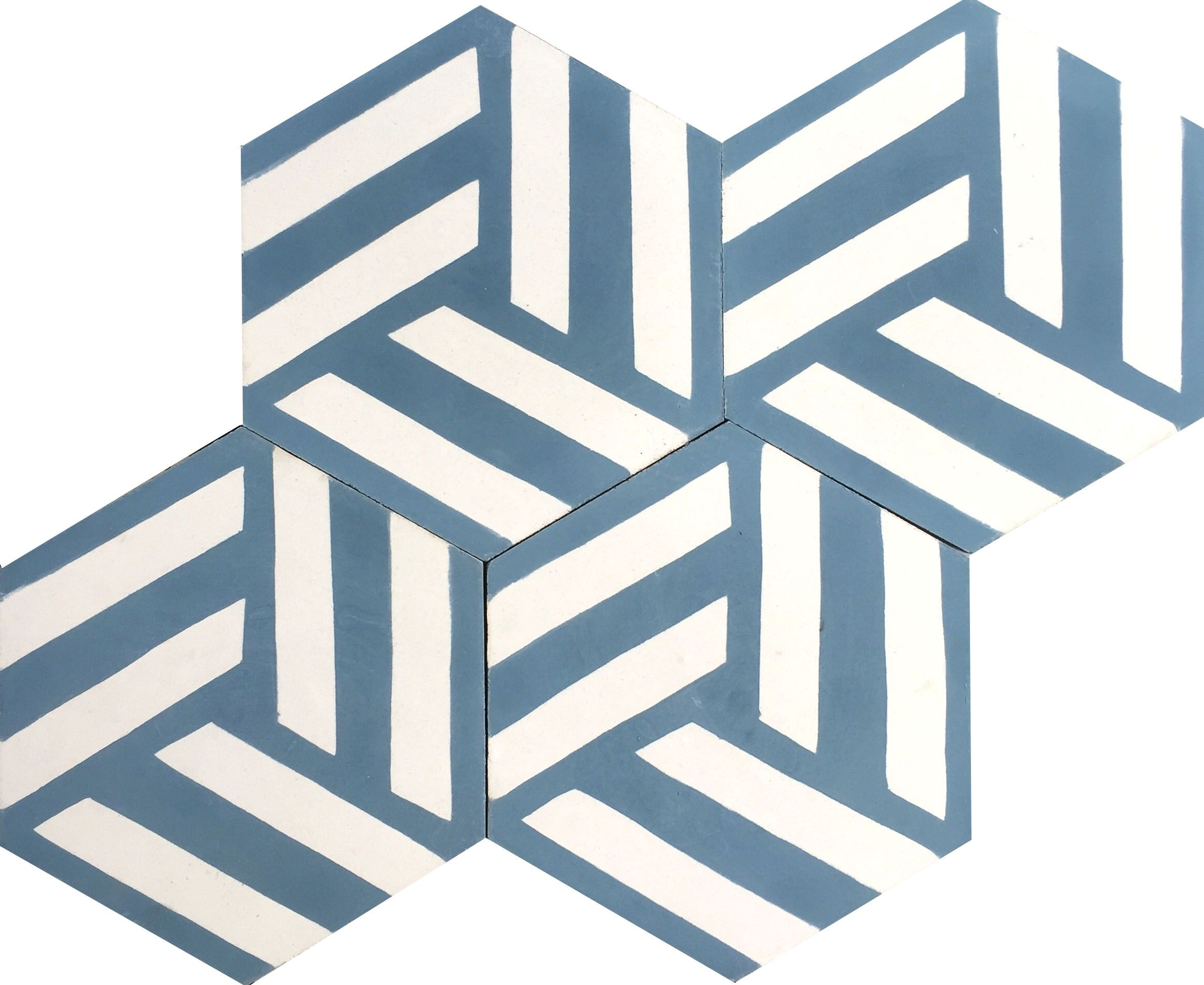 Hexagonal Nudo Encaustic Cement Tiles