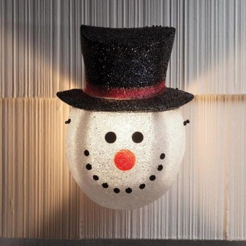 Snowman Porch Light Cover Porch Light Covers Porch Lighting Christmas Porch