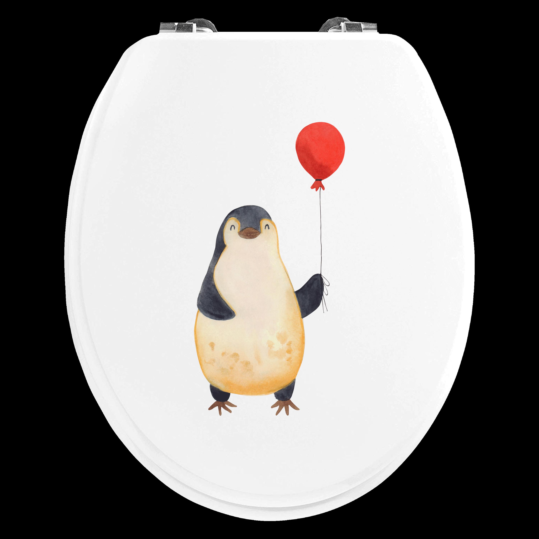 Motiv WC Sitz Pinguin Luftballon