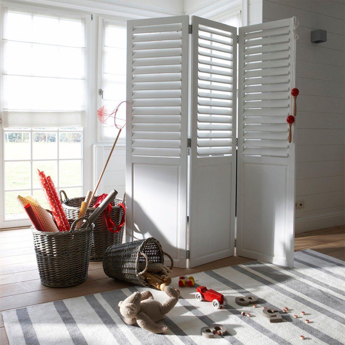 paravent persiennes lamelles orientables la redoute 157 20 livraison christine 39 s. Black Bedroom Furniture Sets. Home Design Ideas