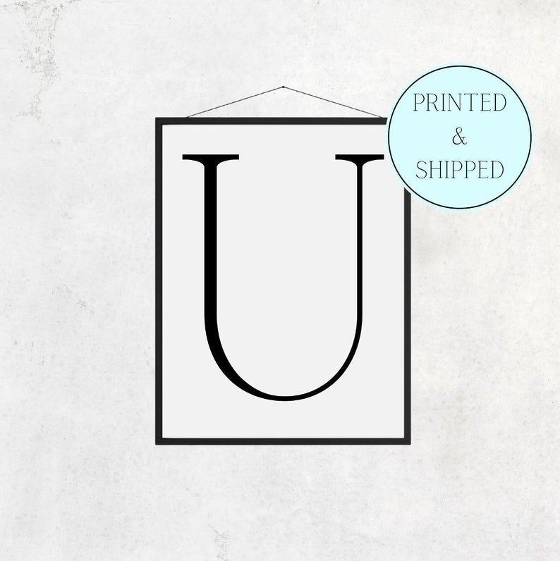 U Print Letter U Print Alphabet Print Letter Print Simple   Etsy