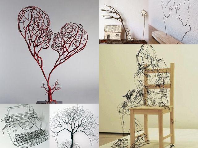Leave Wire Art Diy - Wire Data •