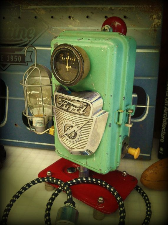 lamp reclaimed industrial upcycled 56 ford by modernartifactdecor