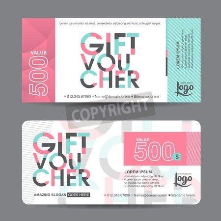Gift Certificate Voucher Template Pincluck On ガーリーデザイン  Pinterest  Gift Voucher Design .