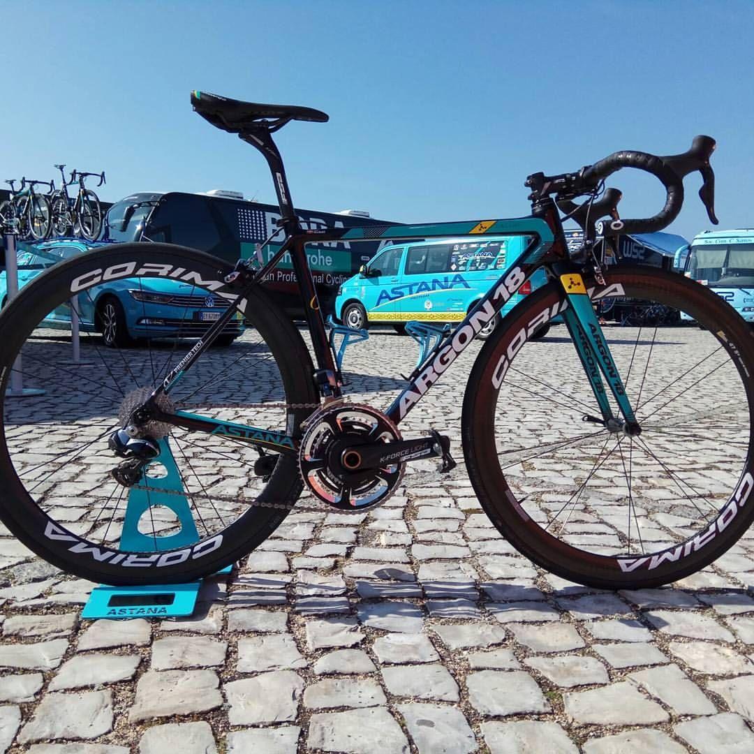 Amazing Argon18bike Of Pello Bilbao In Details Do You Like It Astanaproteam Argon18 Galliumpro Corima Look Fullspeadahead Prologo Rennrad Rennen Rad