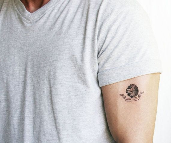 Death star ' never forget' temporary tattoo - Star Wars on Etsy, $6.00