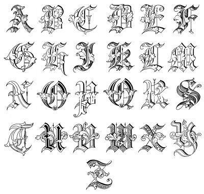 old english alphabet a z 10 letters a to z english calligraphy