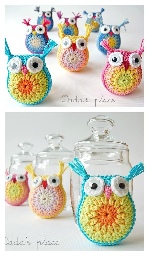 DIY How to Crochet Owl Free Pattern | Muñecos de ganchillo, Hilo y Lana