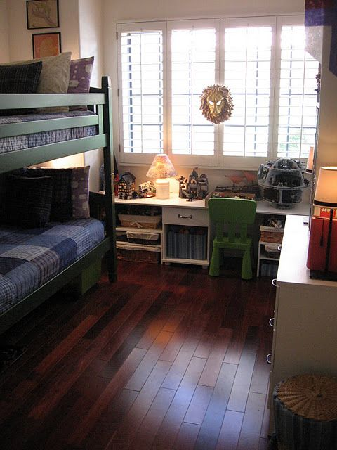 Kid Room Bunk Bed Hardwood Floors Wood Floors