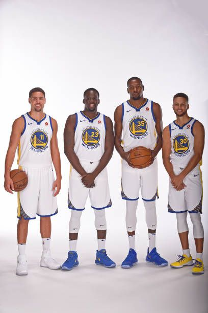 7f589d6d70b1a Klay Thompson Draymond Green Kevin Durant and Stephen Curry of the ...