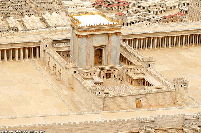 Herod's Temple, the 3rd Temple  The old temple built by