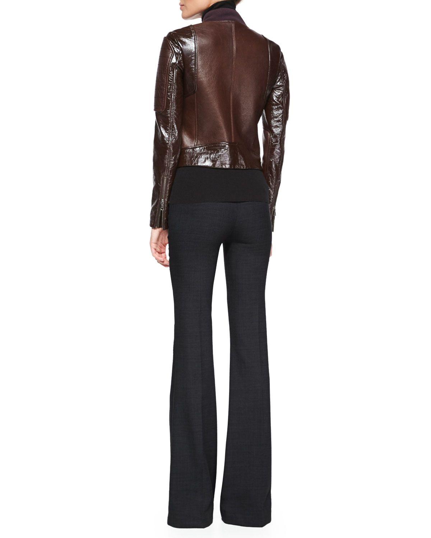 Shezi Polished Leather Jacket