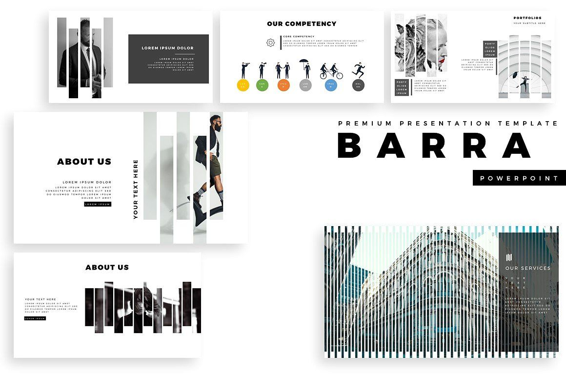 Barra Premium Powerpoint Template Creative Modern Clean