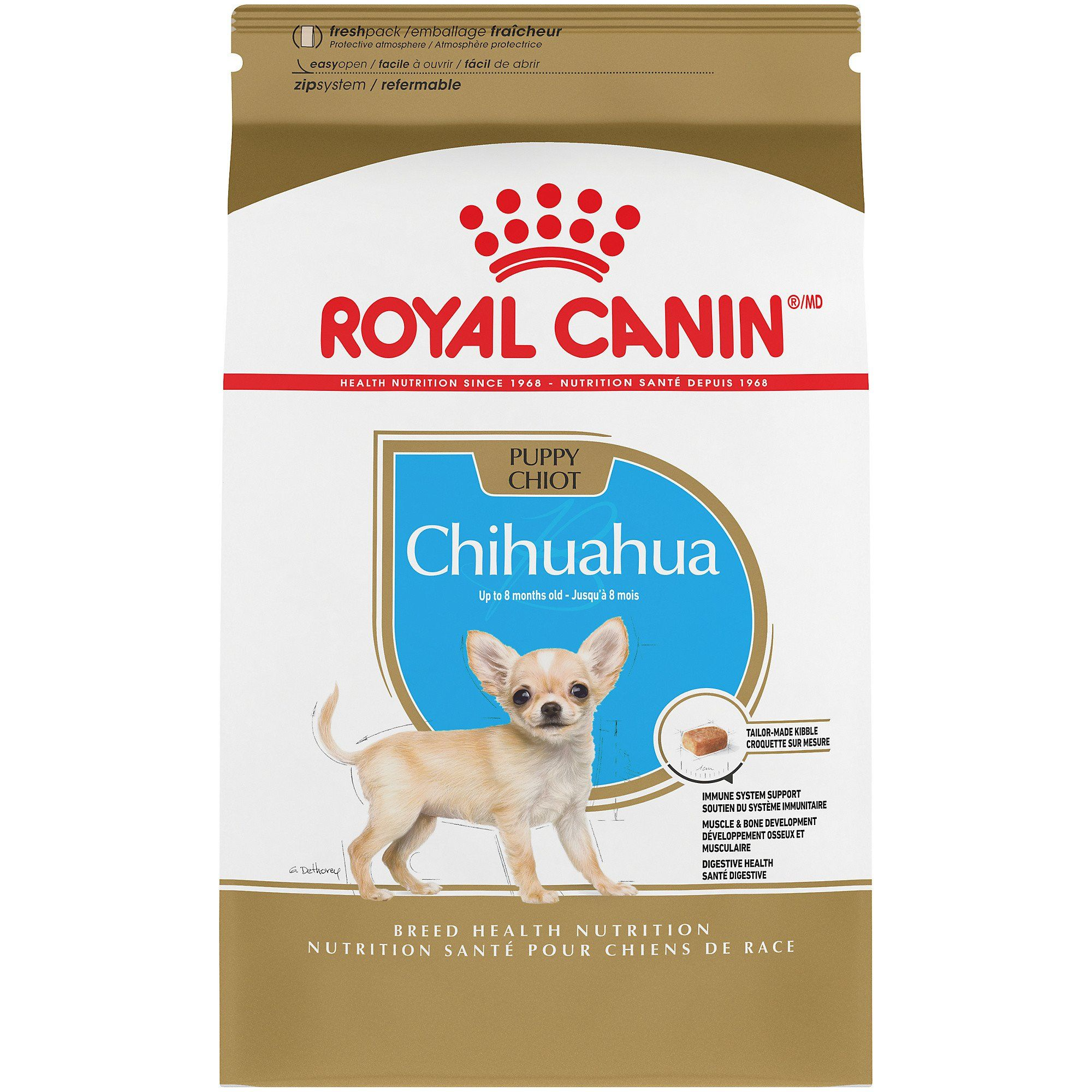 Royal Canin Breed Health Nutrition Chihuahua Puppy Dry Dog Food 2 5 Lbs In 2020 Dog Food Recipes Dry Dog Food Best Dog Food