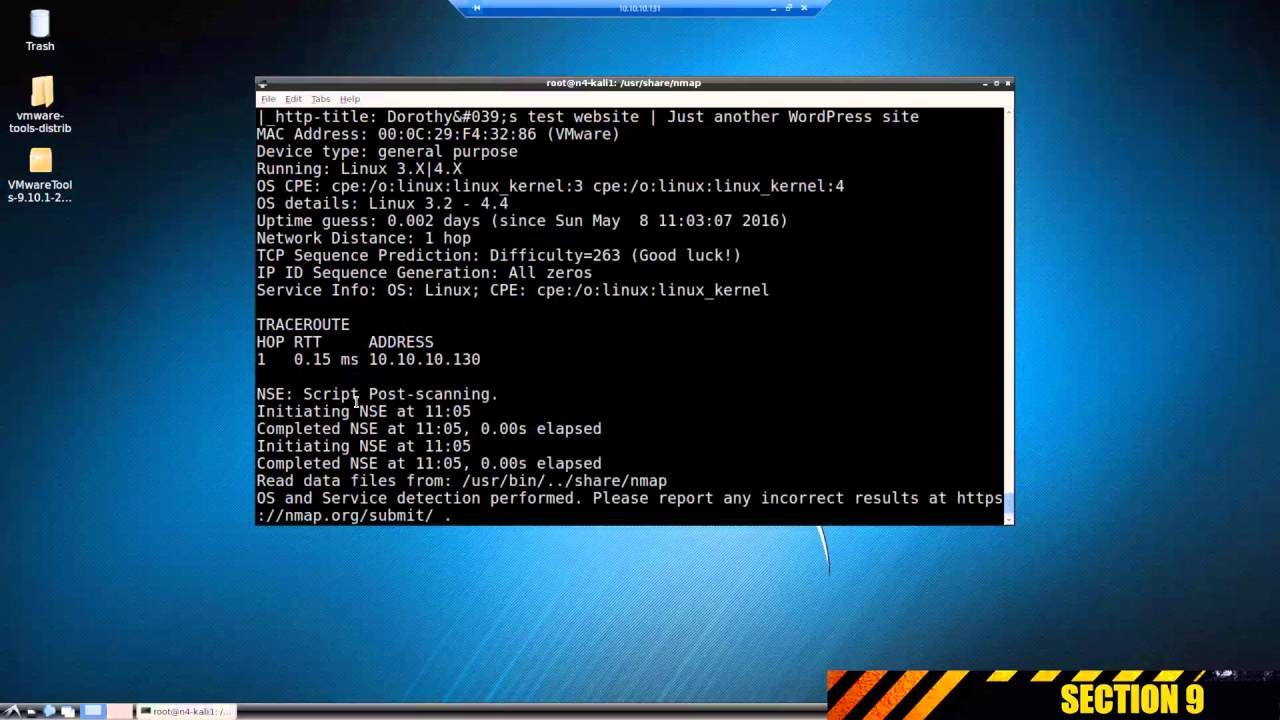 Kali Linux: Hiding information from Nmap | infosec | Linux