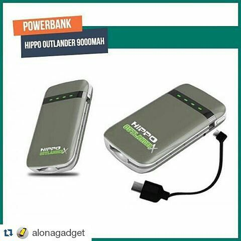 Power Bank Hippo 9000 mAh (OutlanderX) Dengan desain yang