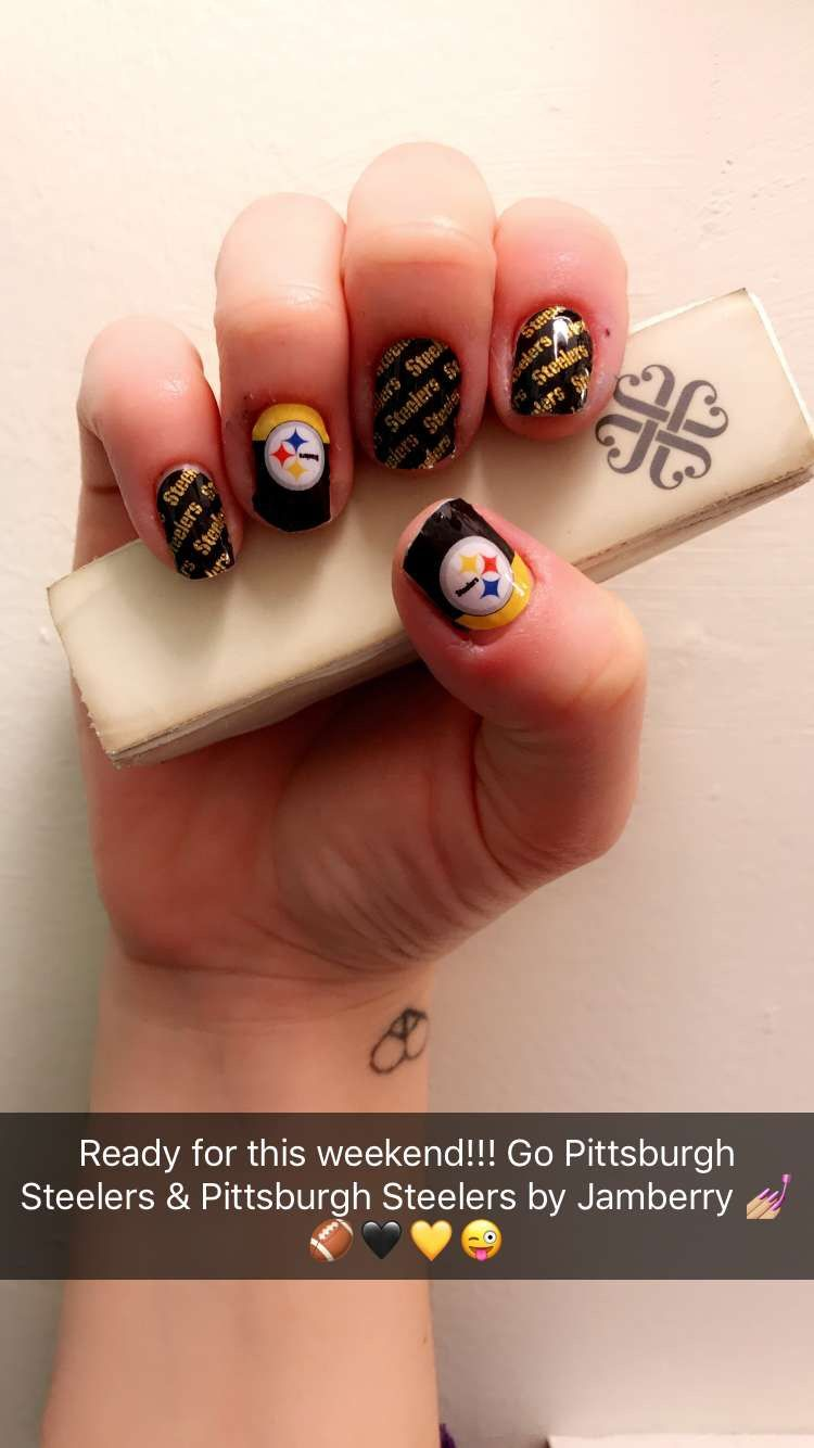 My nails! Ready for this weekend!!! #GoPittsburghSteelersJN ...