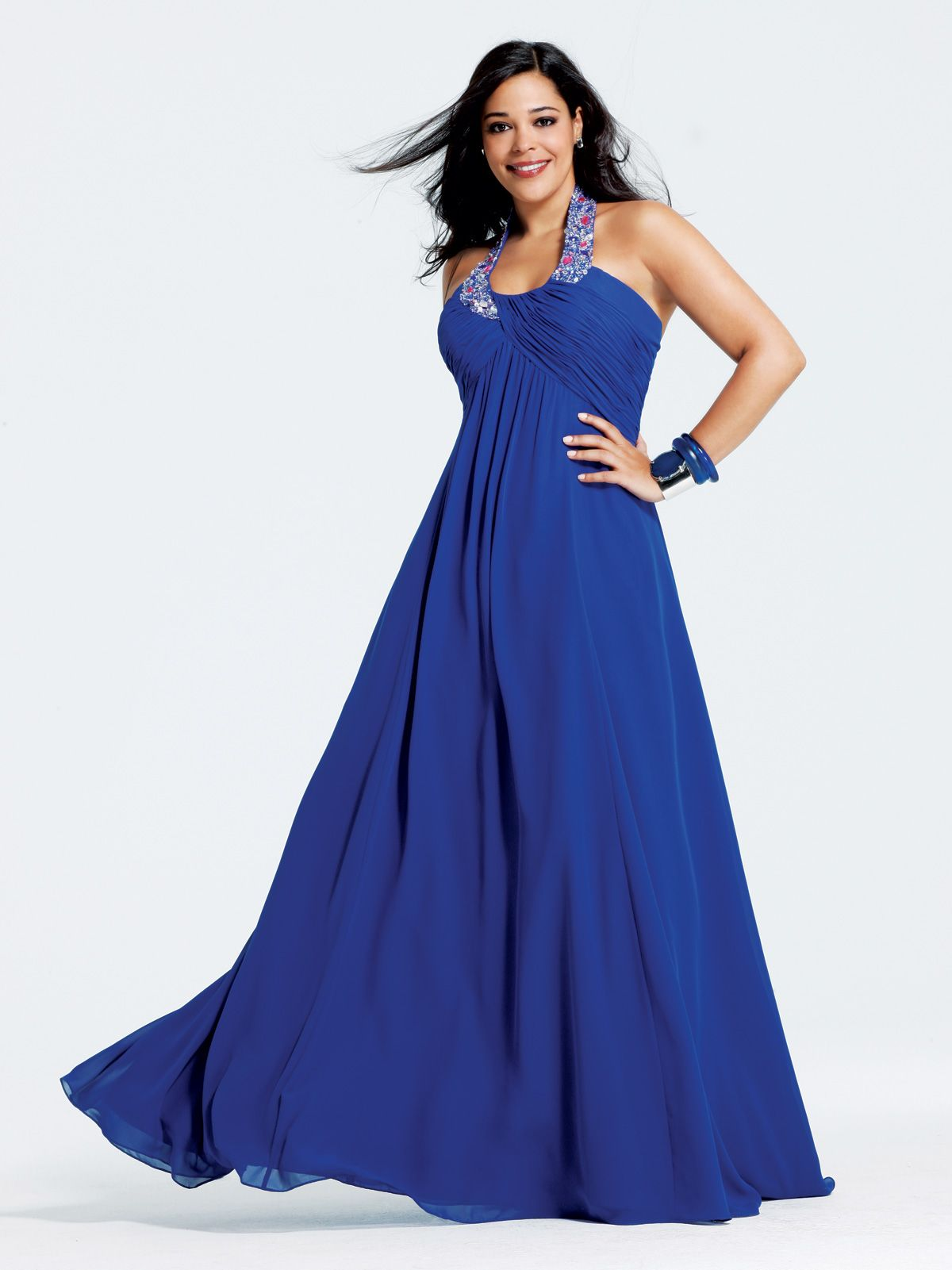 Ethereal chiffon long prom dress plus size faviana this formal