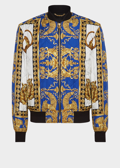 ec855f6b00 Signature Dea Print Bomber - Blue/Print Jackets & Coats | Fitz ...