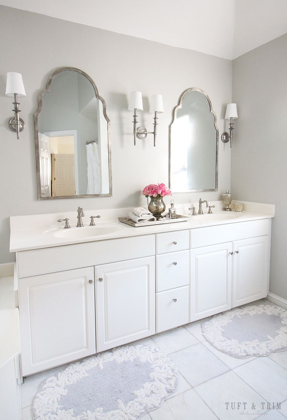 Master Bathroom Diy Before And After Budget Bathroom Remodel