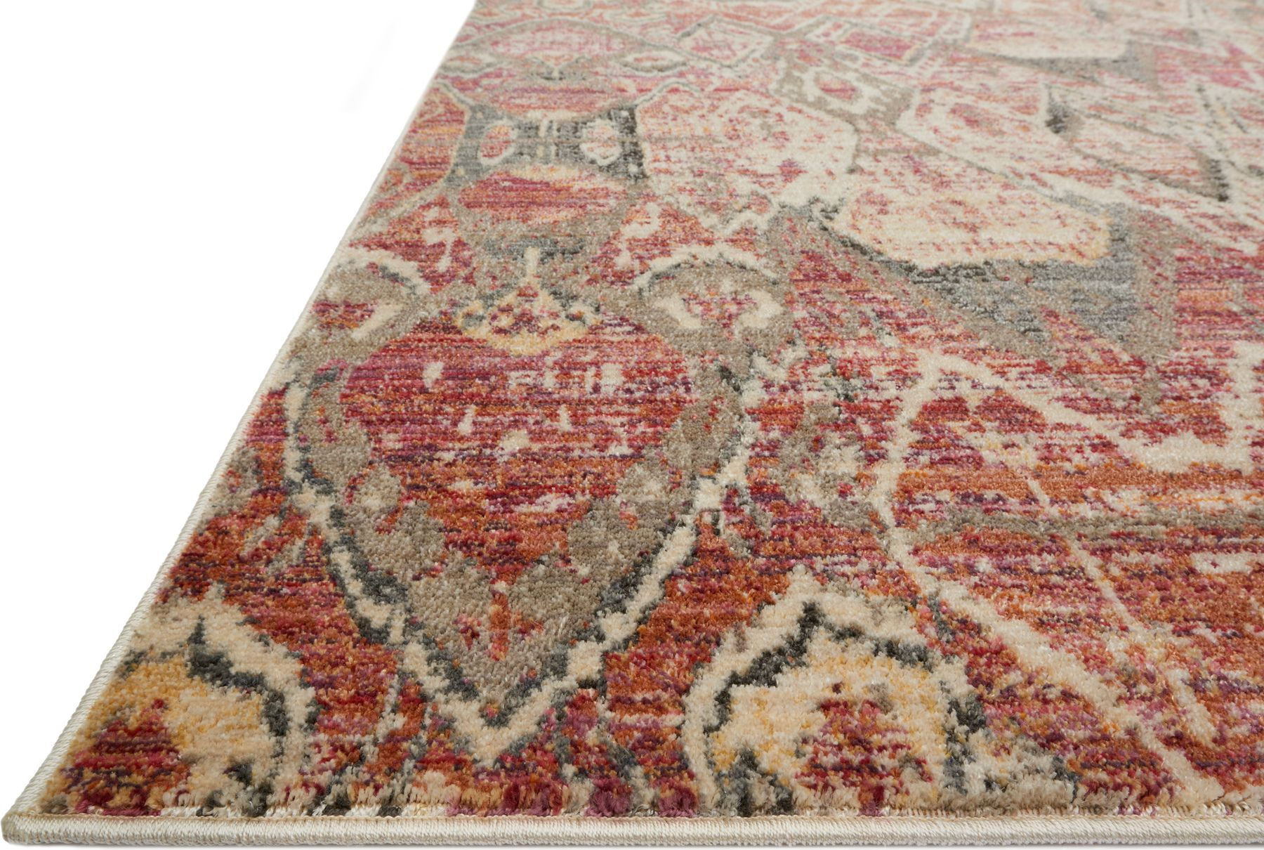 Javari Blaze Rug Color Berry Ivory Size 3 7 X 5 2 In 2020 Colorful Rugs Bohemian Rug Rugs