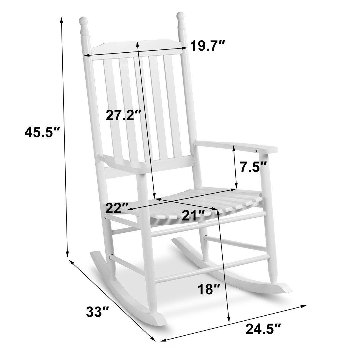 Wooden Balcony Deck Garden Porch, Deck Rocking Chair Plans