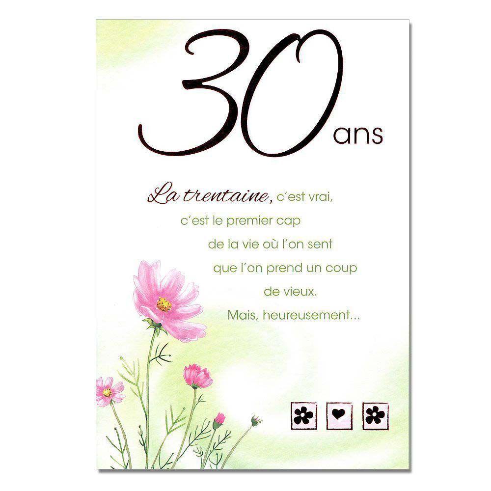 texte invitation anniversaire 30