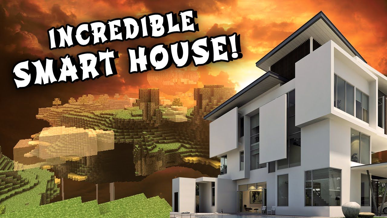 REDSTONE SMART HOUSE - Modern Mansion (w/ Secret Rooms and Passage