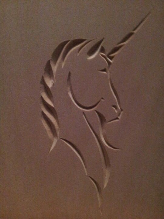 Chip carved unicorn my projects pinterest chips and
