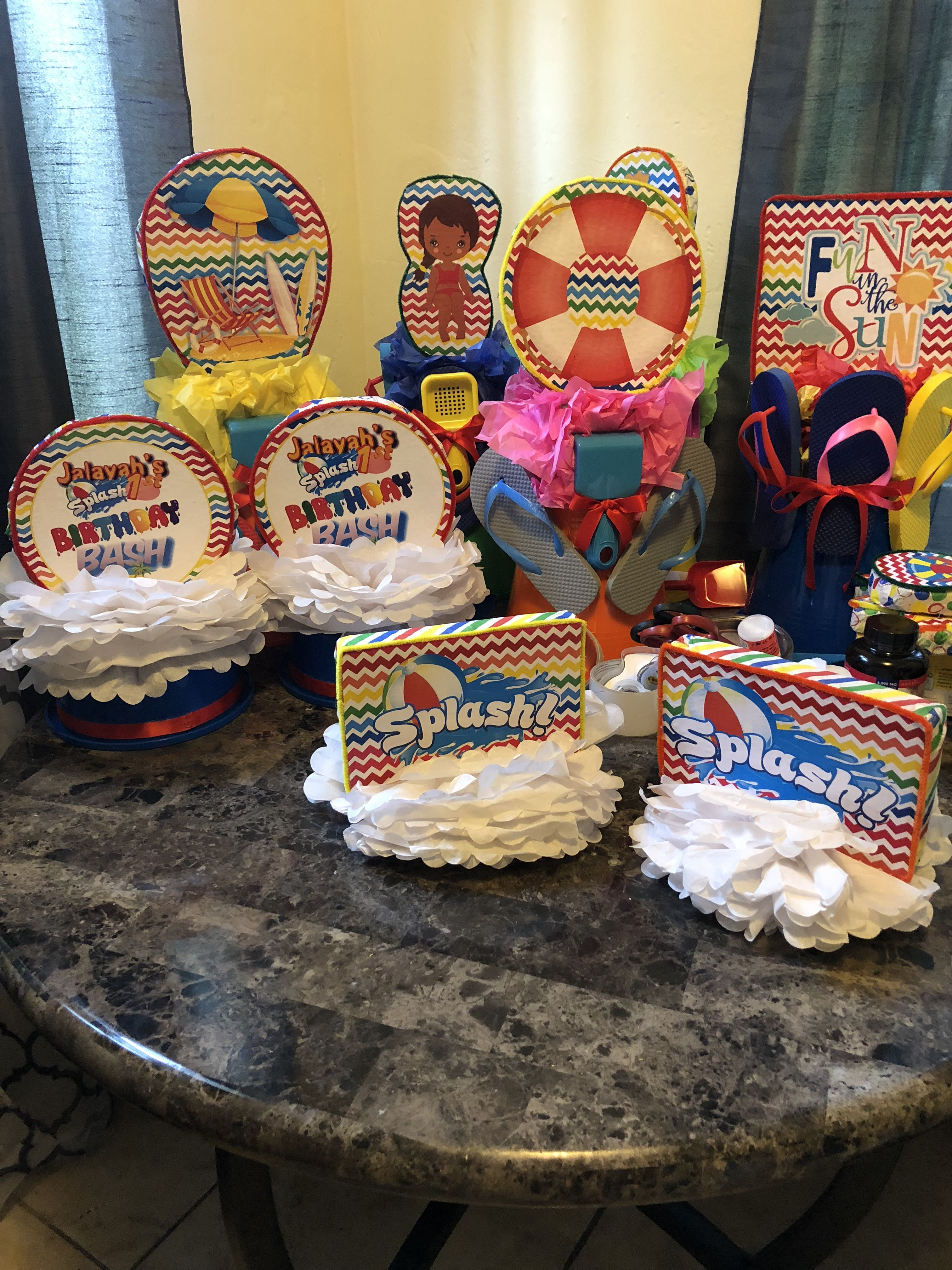 Party Decorations By Tanesha West Diy Handmade Centerpieces