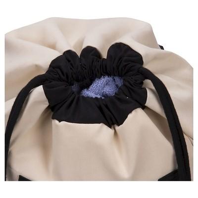 Household Essentials - Backpack Duffel Laundry Bag - Canvas - Drawstring - Cream (Ivory)/Black