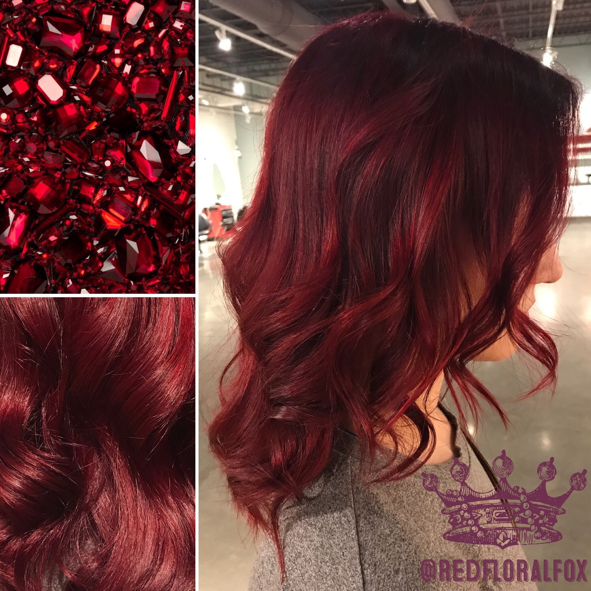 Ruby Red Hair Color By Taylor Lowe At Moxie Hair Salon In St Paul