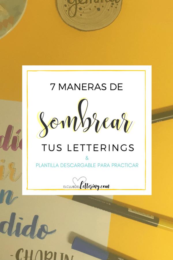 7 Maneras De Sombrear Tus Letterings El Club Del Lettering Letras Con Sombra Tutorial De Letras Tipos De Letras Abecedario