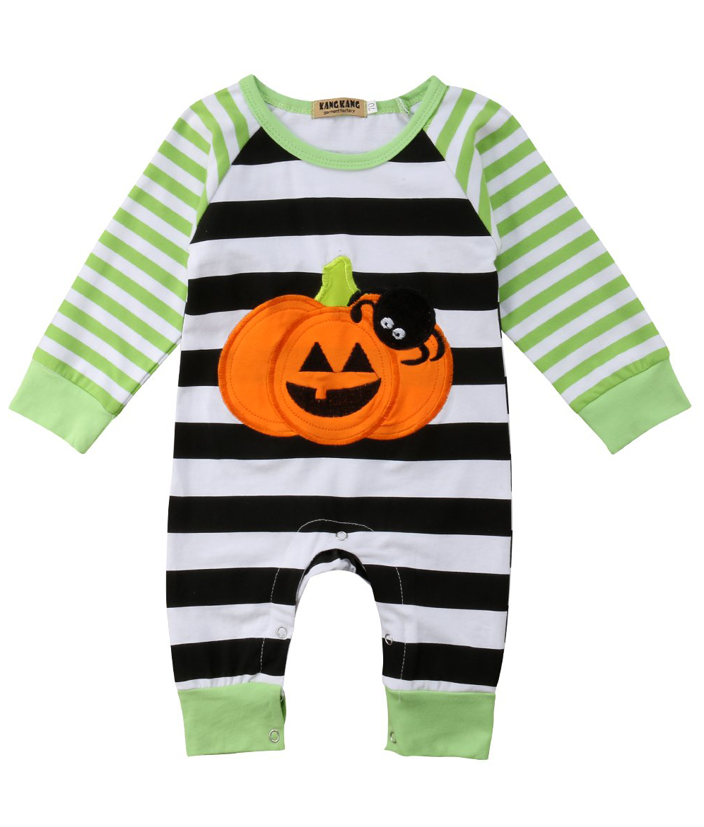 5e39a490685 ... Rompers. SALE 45% OFF + FREE SHIPPING! SHOP Our Pumpkin Striped Jumpsuit  for Baby Girls   Boys