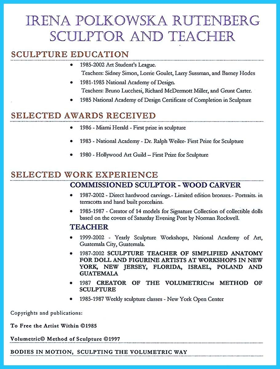 Resume For Art Teacher  Art Teacher Resumes