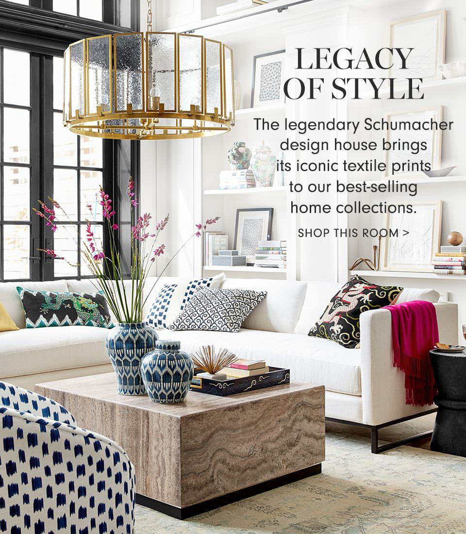 schumacher  williams sonoma  room inspiration decor